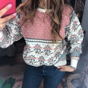 Vintage Western Connection Blush Multi  Sweater M